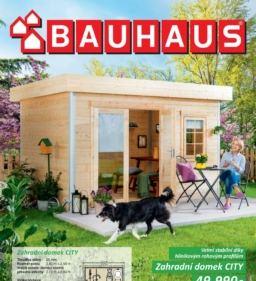Bauhaus leták zahradní domky