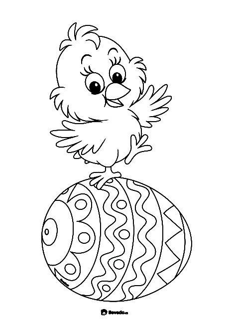 Velikonoční omalovánky kuřátko Bevedo