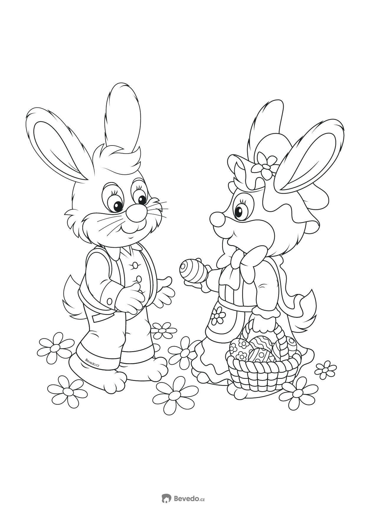 Velikonoční omalovánky pro děti od Bevedo