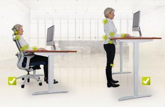 Výškově stavitelné stoly vás zbaví bolesti zad při kancelářské činnosti