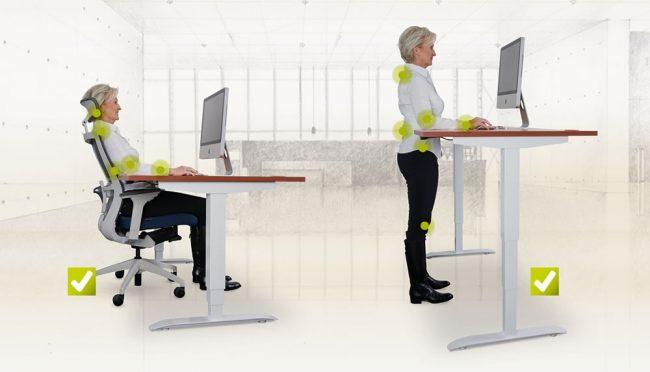 Nastavitelný stůl ergo 3